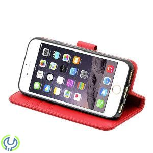 4.7 INCH WALLET CASE REAL LEATHER CASE FOR IPHONE7 RED