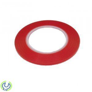 Röd Superstark dubbelhäftande tejp rulle 0,2 cm